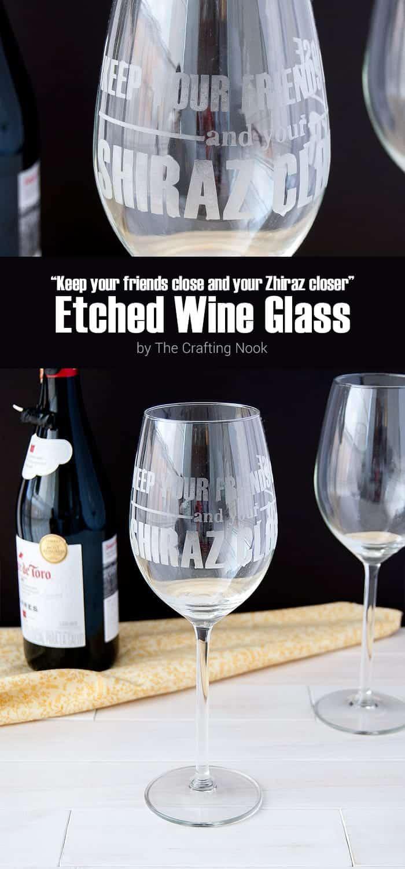 DIY Shiraz Etched Wine Glass