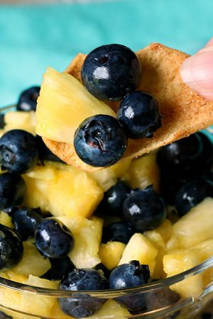 Blueberry Pineapple Fruit Salsa