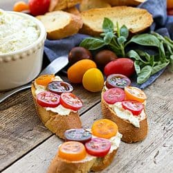 Creamy Goat Cheese Bruschetta