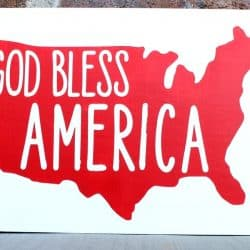 Fun Fourth of July Wooden Sign with Cricut Explore