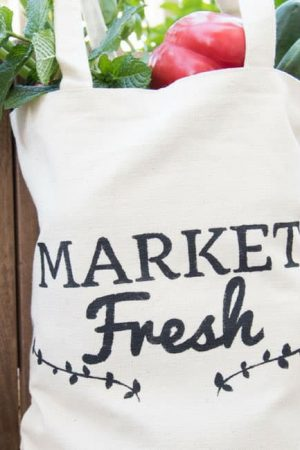 DIY Farmer's Market Tote {using the Cricut Explore}
