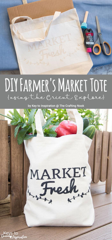 DIY Farmer's Market Tote {using the Cricut Explore}