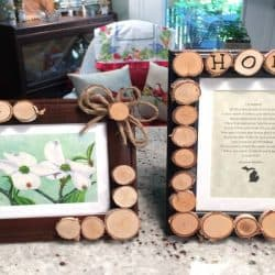 Create a Rustic Frame with Birch Wood Slices Tutorial