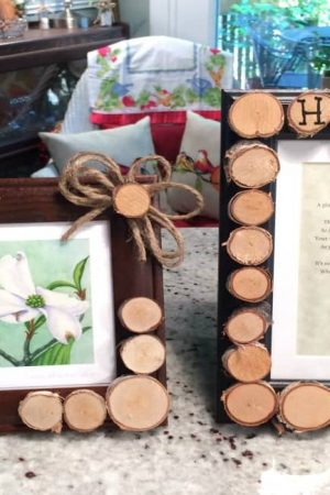 Create a Rustic Frame with Birch Wood Slices