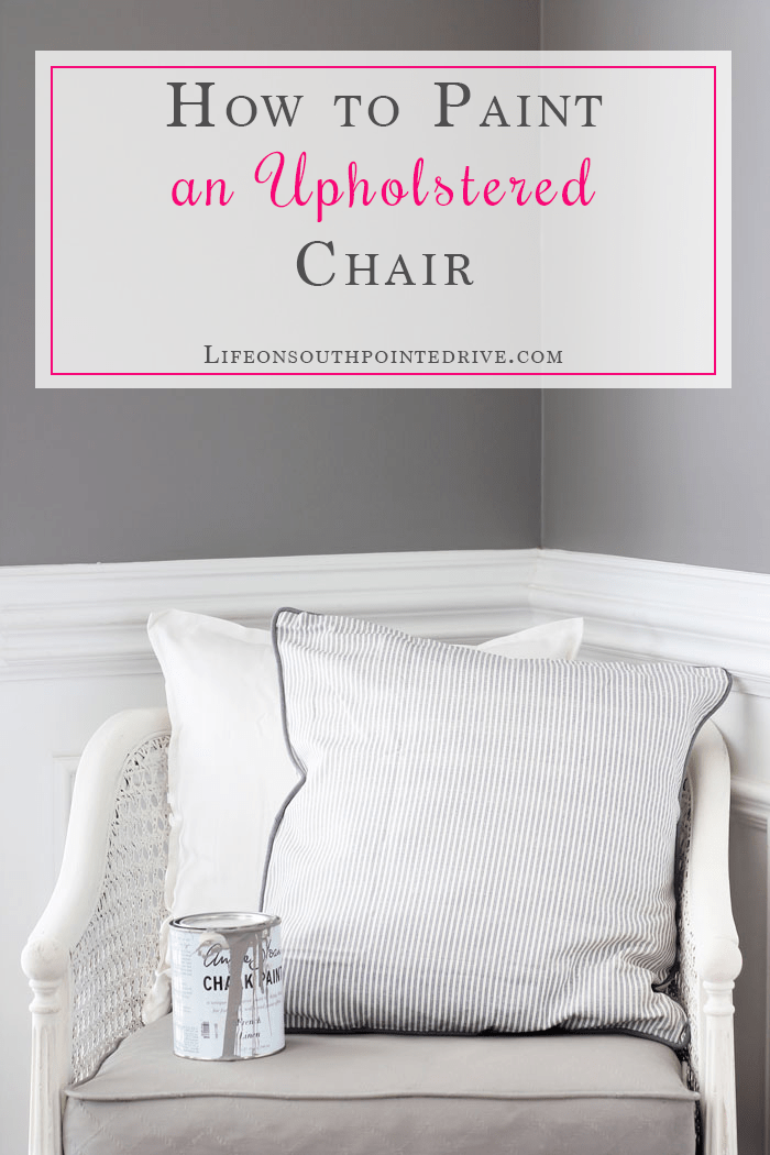 How to Paint an Upholstered Chair