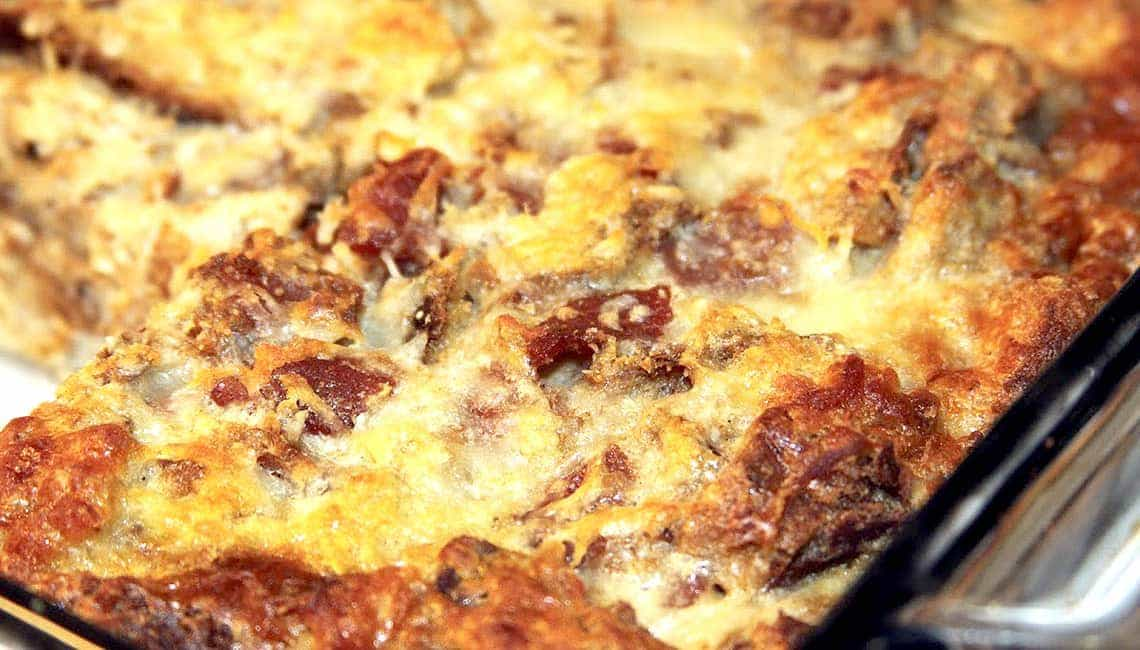 Savory Bacon and Gouda Bread Pudding | The Crafting Nook ...