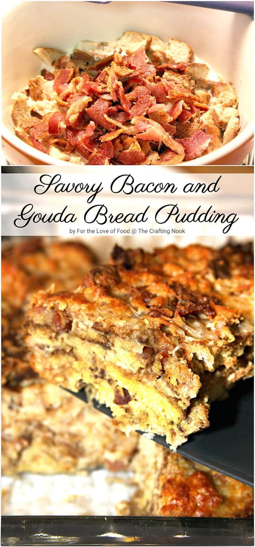 Savory Bacon and Gouda Bread Pudding recipe