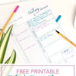 Fun Free Today To Do Planner Printable
