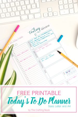 Free Today To Do Planner Printable (To stay focused)