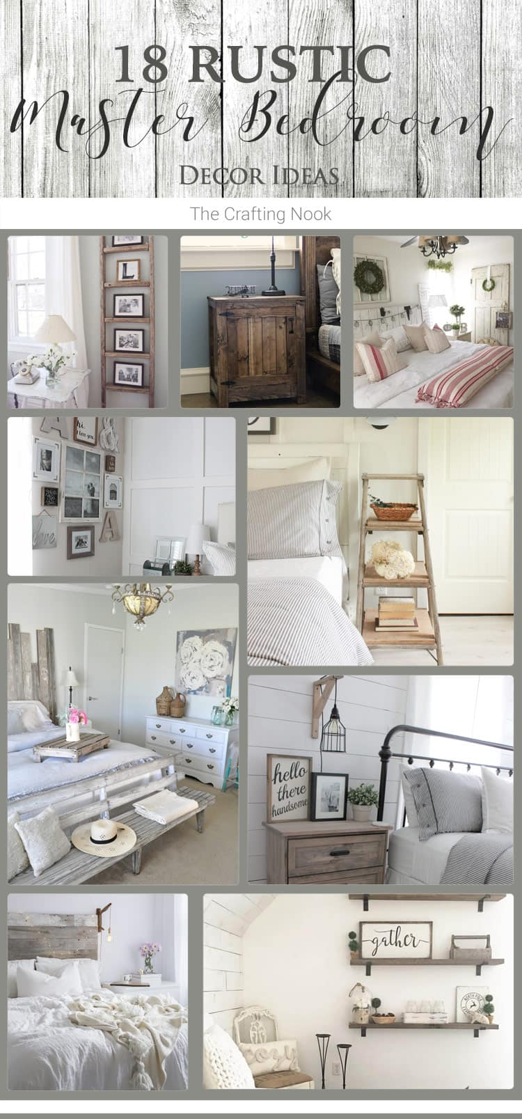 18 Rustic Master Bedroom Decor Ideas (that will invite you ...