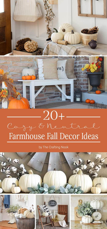 Cozy Farmhouse Fall Decor Ideas PIN