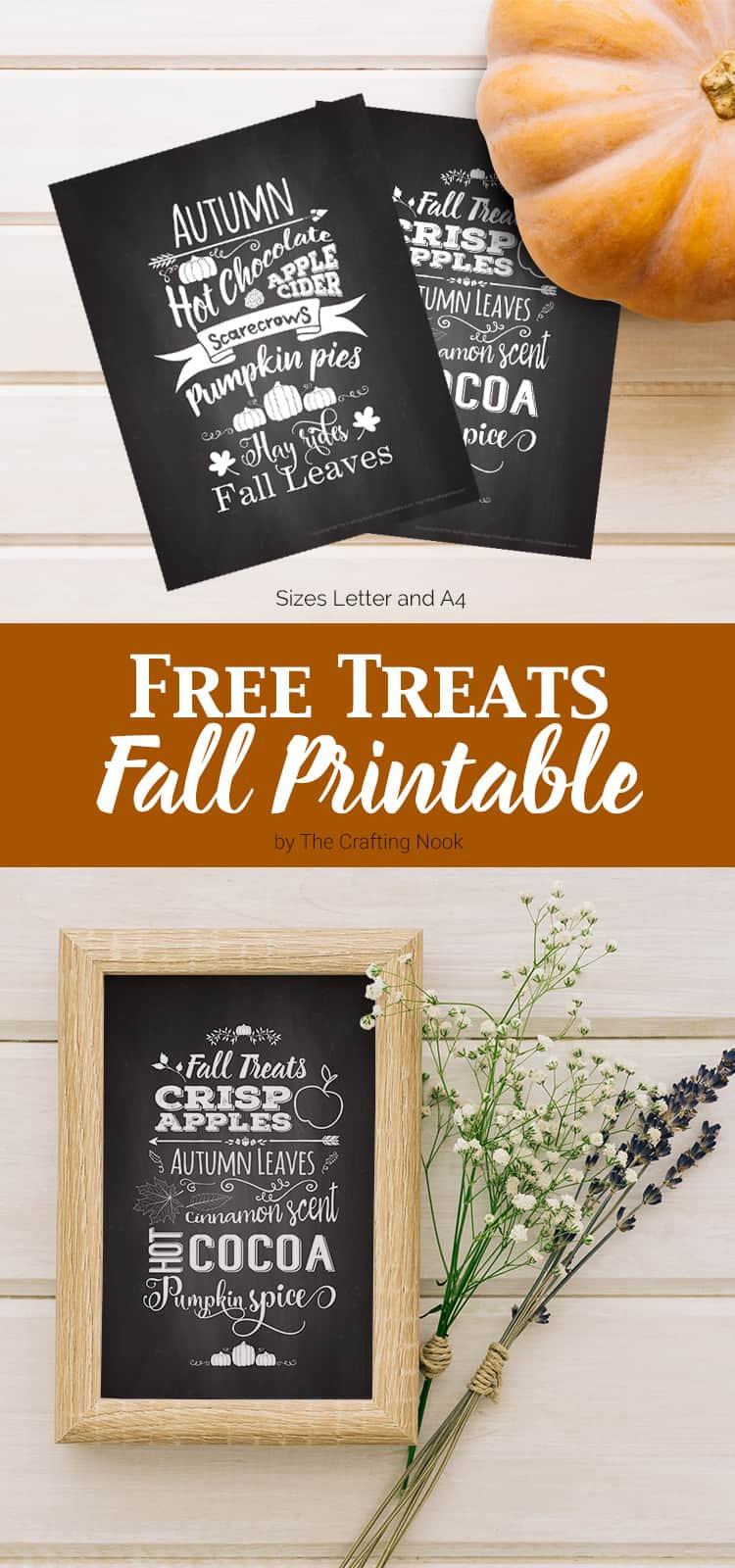 FREE Treats Fall Printable