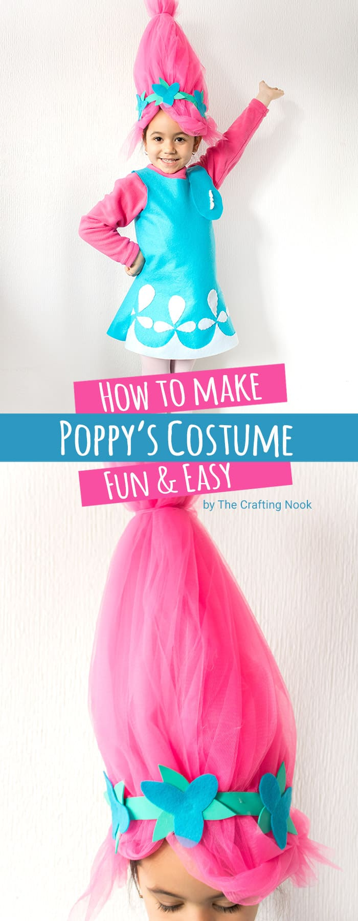 How to Make Poppy Troll Costume