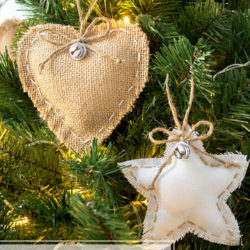 DIY Rustic Burlap Christmas Ornaments Cute
