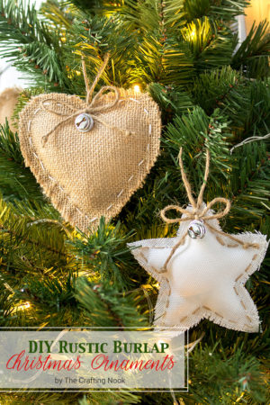 DIY Rustic Burlap Christmas Ornaments (with Video Tutorial)