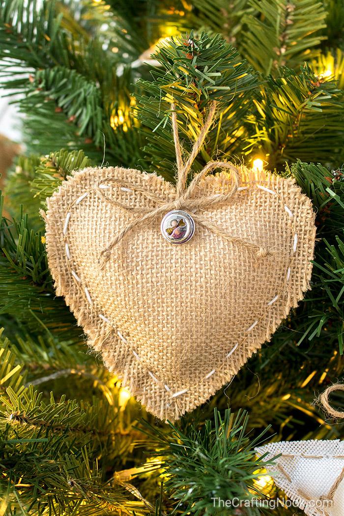 A cute handmde burlap heart