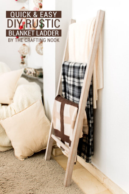 Easy DIY Rustic Blanket Ladder