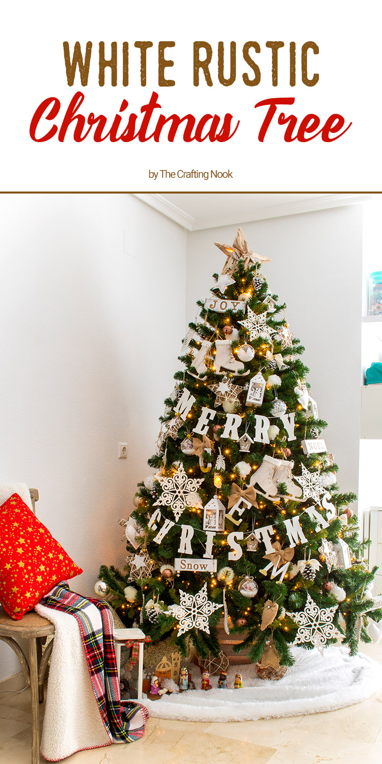 Pretty White Rustic Christmas Tree