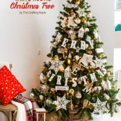 White Rustic Christmas Tree