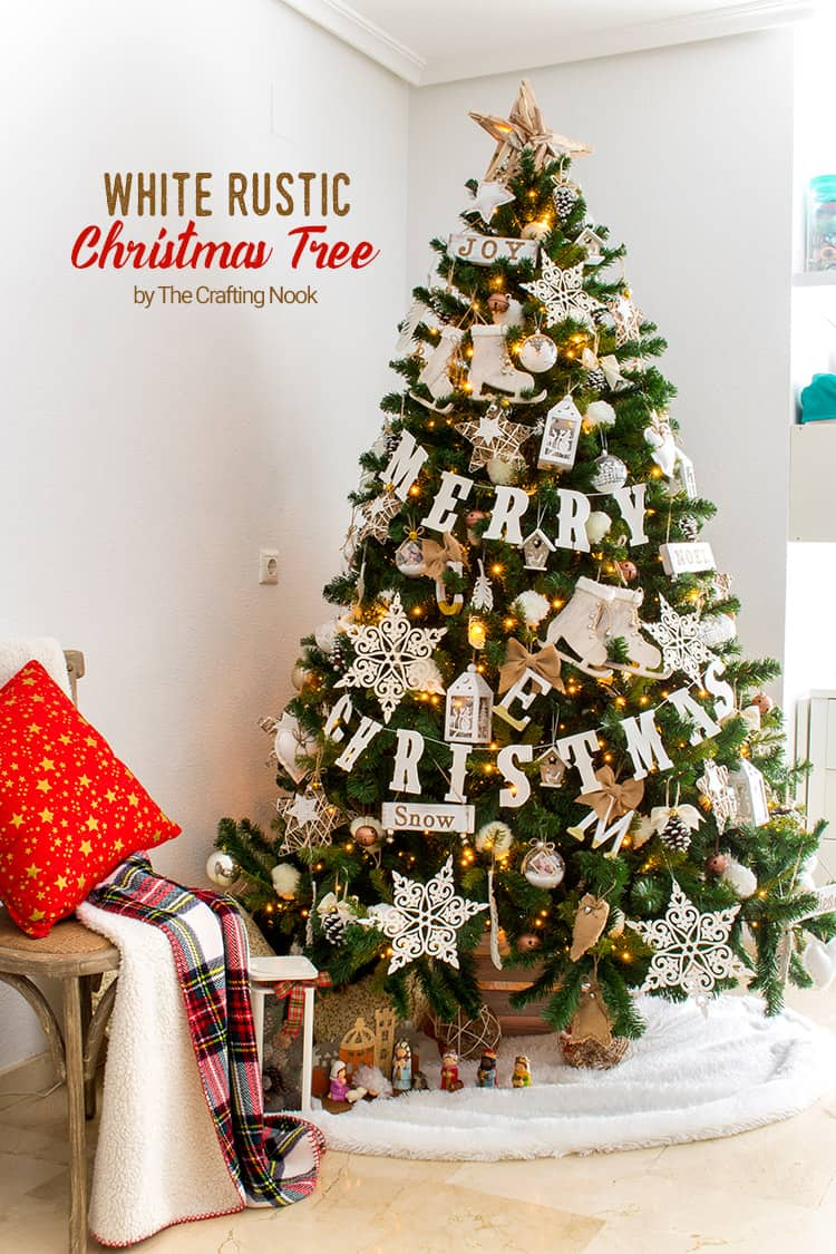 12 Ft White Christmas Tree
