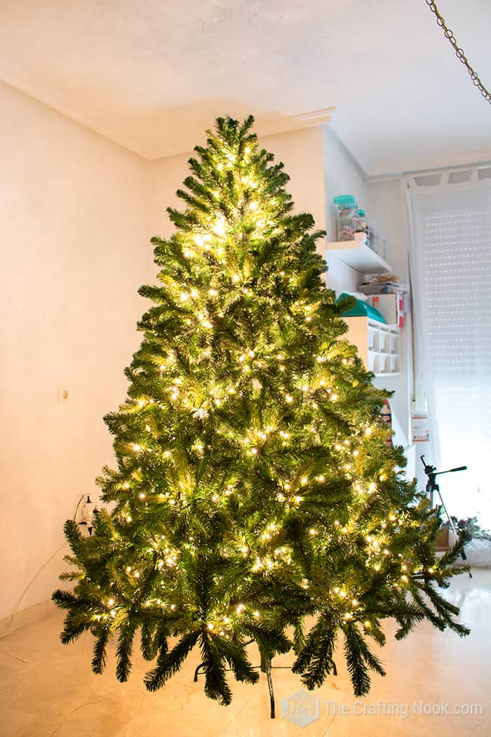 White Rustic Christmas Tree