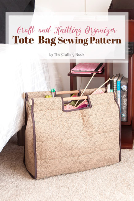 DIY Craft and Knitting Organizer Tote Bag (Sewing Pattern)