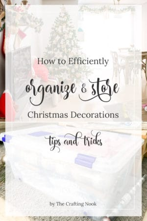 Clever Ways to Efficiently Organize and Store Christmas Decorations {an easy way}