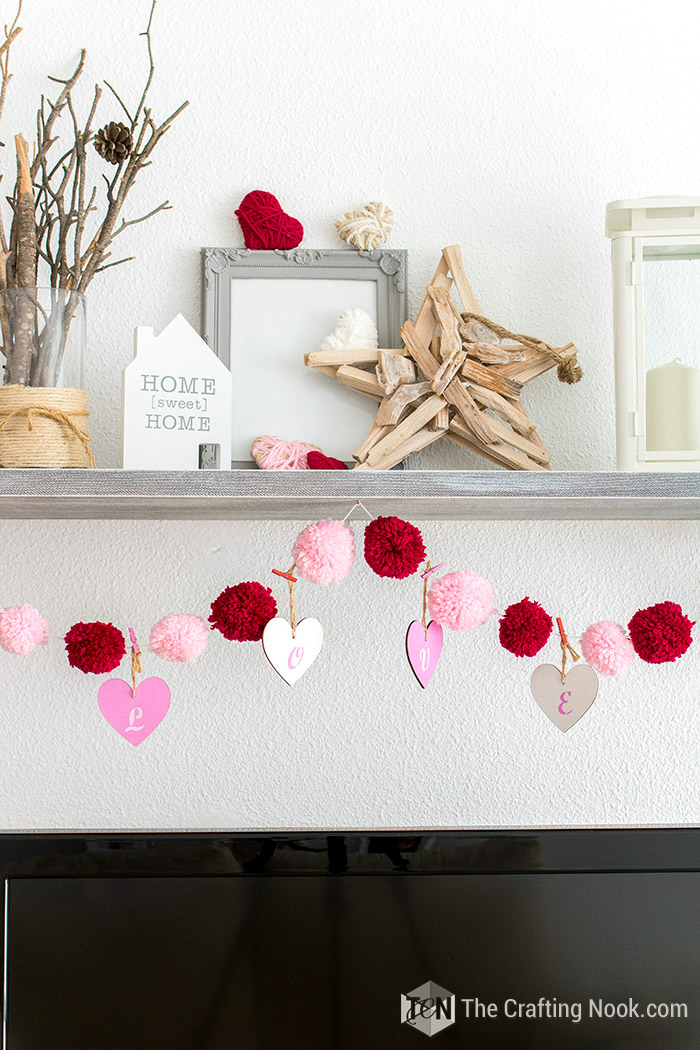 Valentine S Day Love And Pom Pom Garland The Crafting Nook