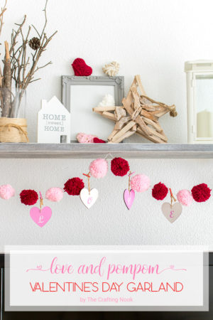 Valentine's Day  Love and Pom Pom Garland