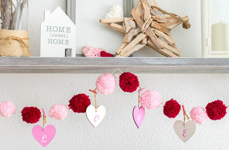 Easy Love and Pompom Valentine's Day Garland
