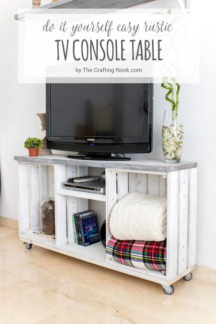 DIY Easy Rustic TV Console Table Tutorial