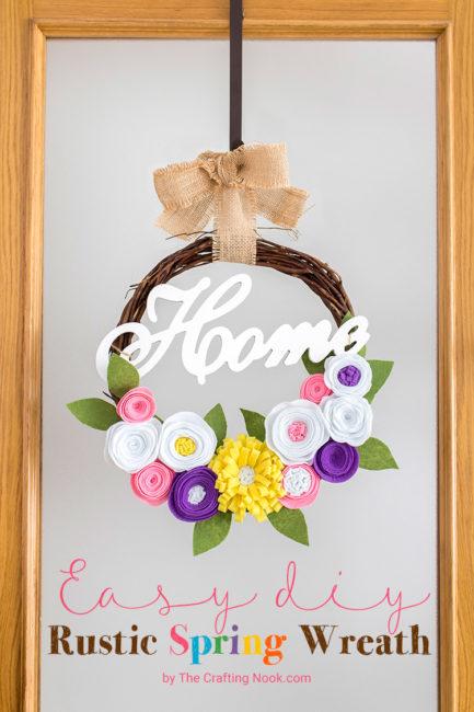 Easy DIY Rustic Spring Wreath