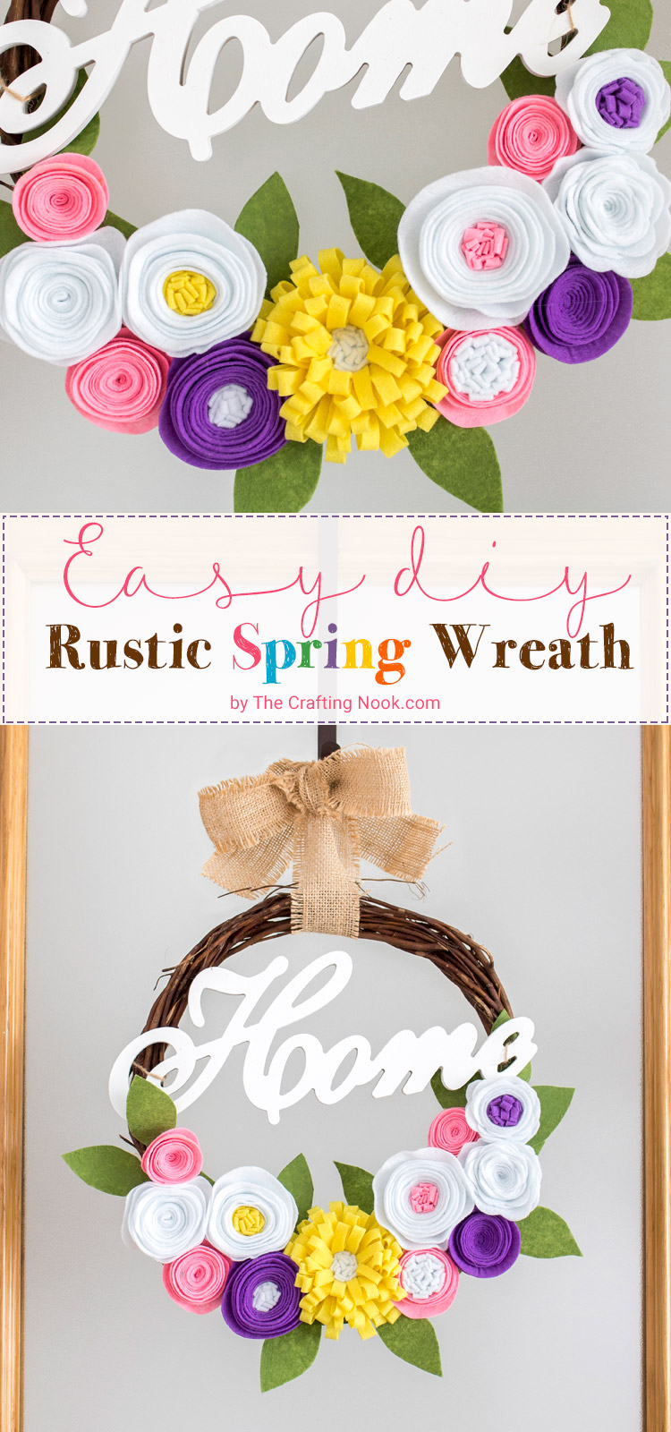 Easy DIY Rustic Spring Wreath with video