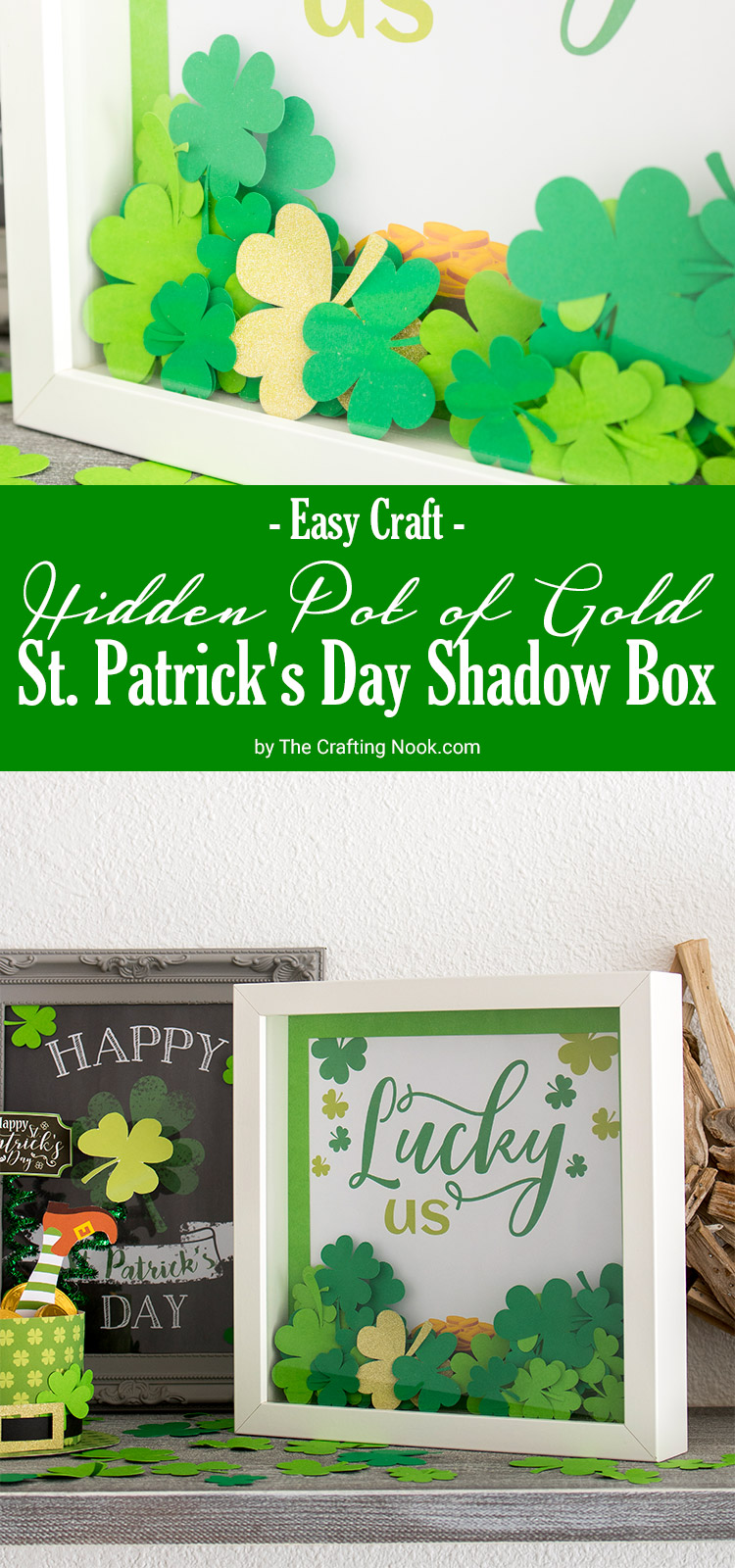 DIY Hidden Pot of Gold St. Patrick's Day Shadow Box