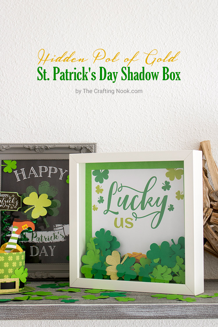 Hidden Pot of Gold St. Patrick's Day Shadow Box
