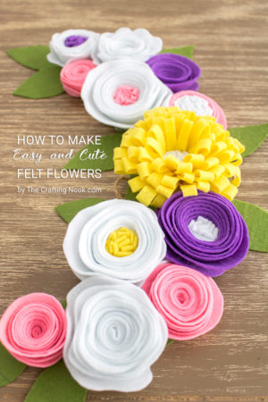 How to make Easy and Cute Felt Flowers
