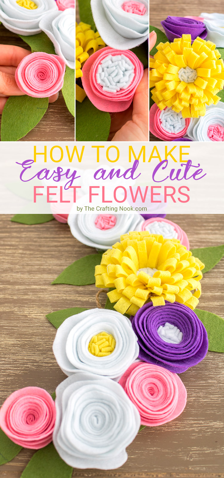 How to make Felt Flowers Easy and Cute