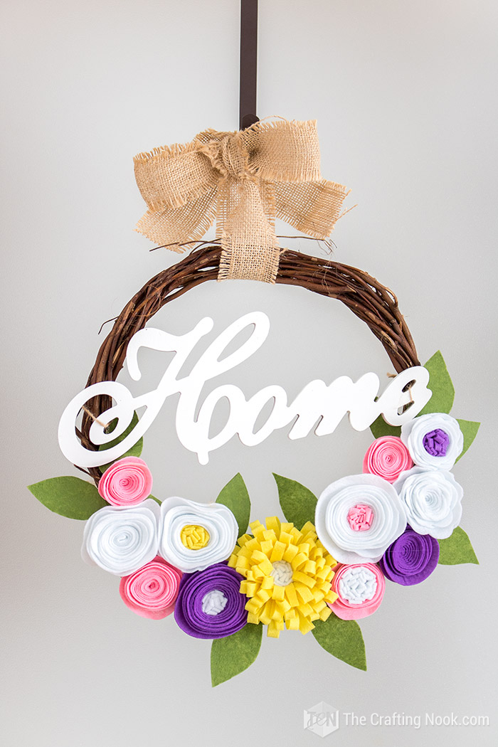 DIY Rustic Spring Wreath