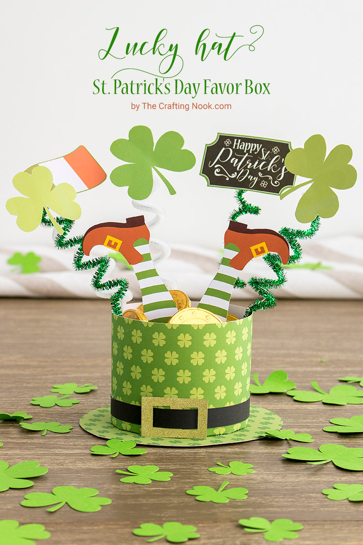 DIY Lucky Hat St. Patrick's Day Favor Box (with free Printables)
