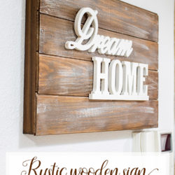 Rustic Wooden Sign Fusebox Cover Tutorial