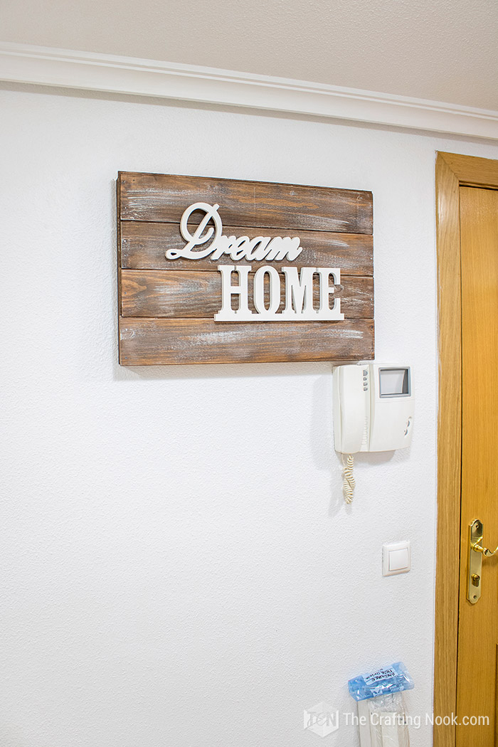 Rustic Wooden Sign Electrical Panel Cover (How to) | The Crafting NookThe Crafting Nook
