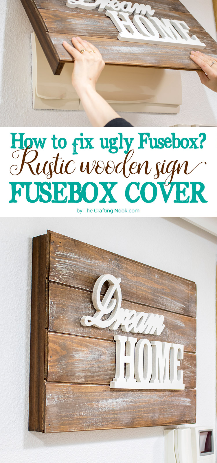 Rustic Wooden Sign Fusebox Cover