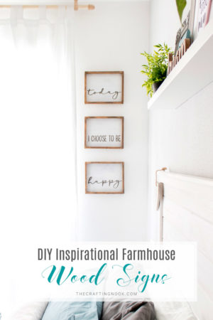 DIY Inspirational Farmhouse Wood Signs
