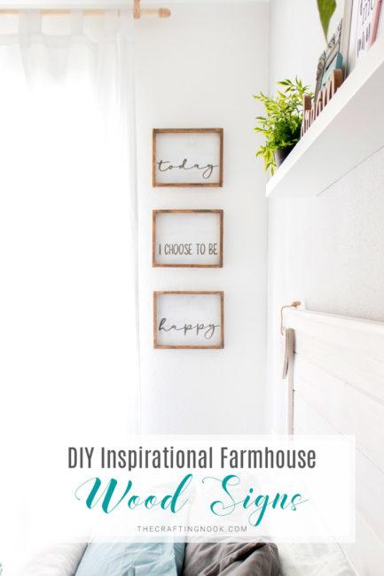 Pretty DIY Inspirational Farmhouse Wood Signs