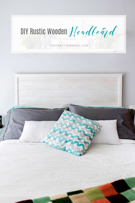Gorgeous DIY Rustic Wooden Headboard