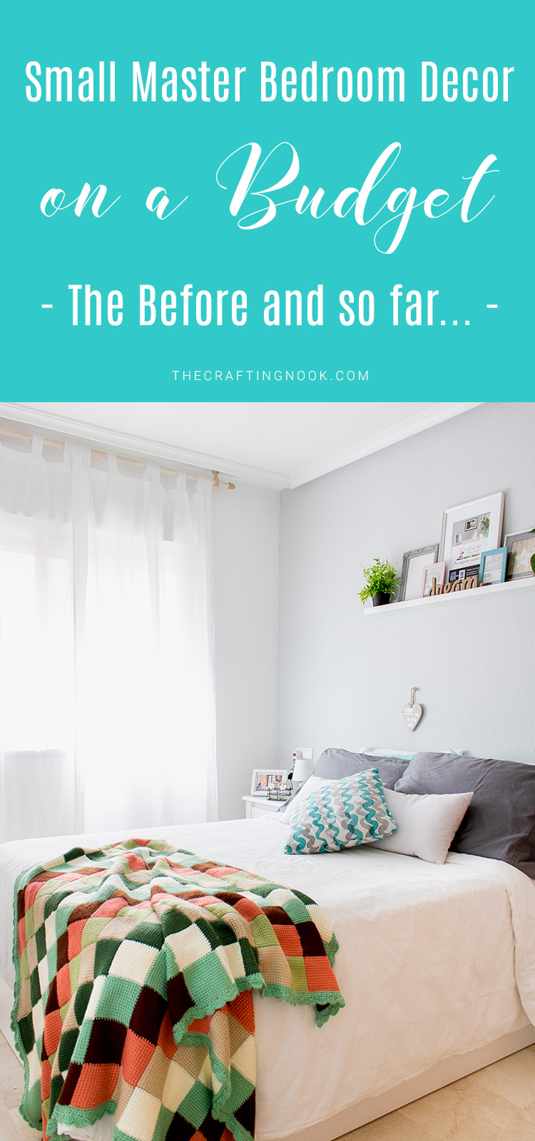 Small Master Bedroom Decor on a Budget (The Before and So far)