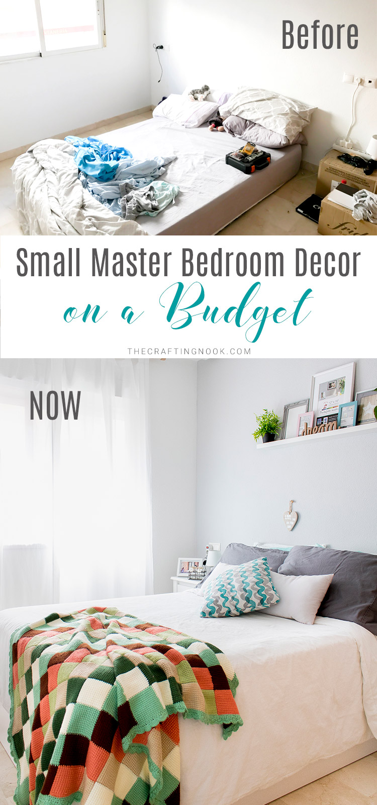 Small Master Bedroom Decor on a Budget (The Before and NOW)