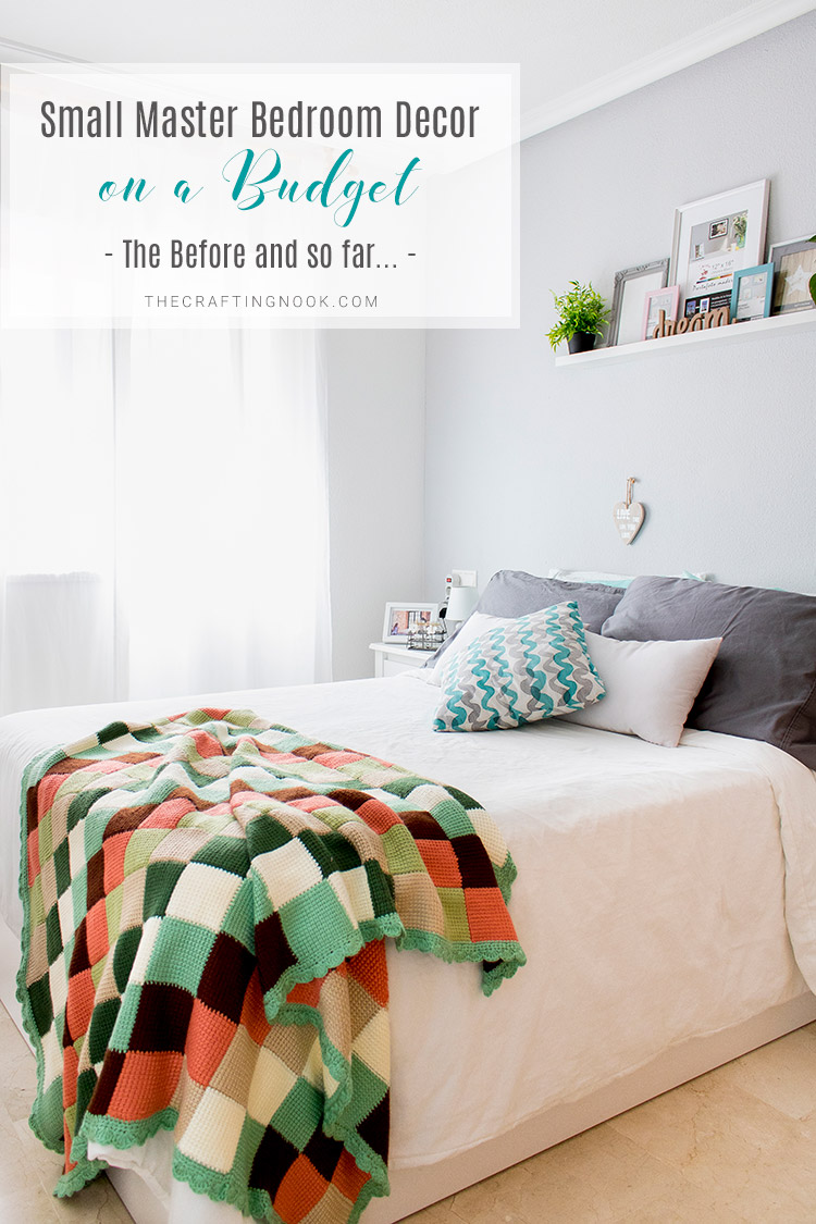 Small Apartment Decor Series: Small Master Bedroom Decor on a Budget (The Before and So far)