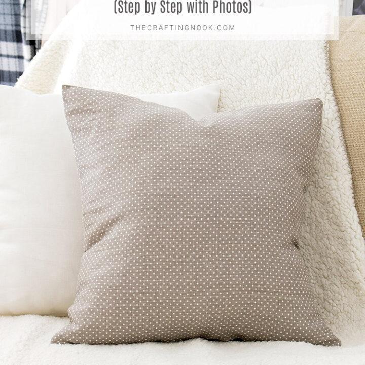 DIY 10-minute Envelope Pillow Cover Tutorial