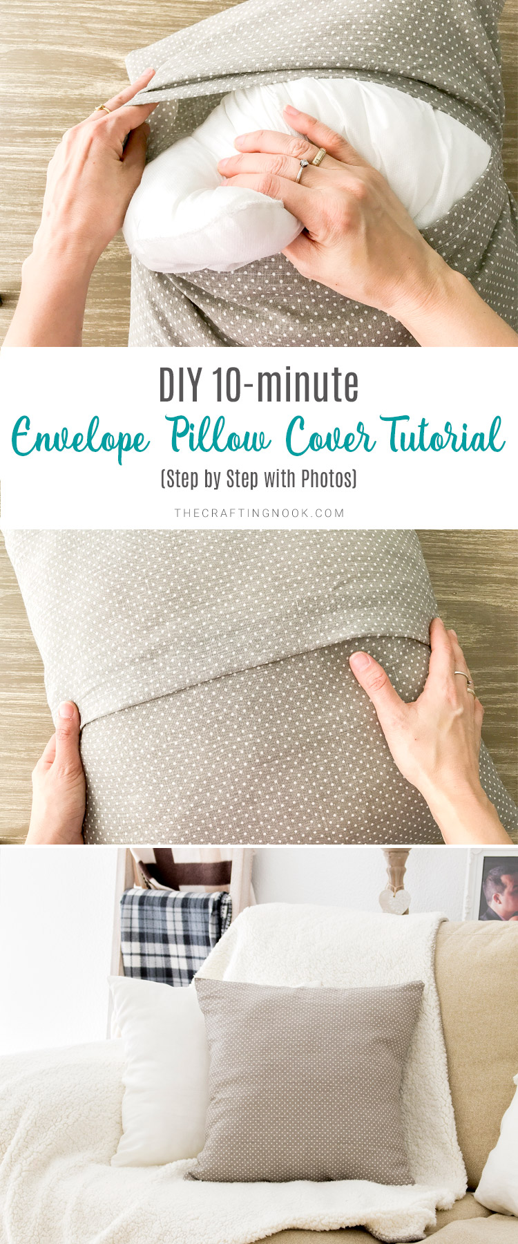 DIY 10-minute Envelope Pillow Cover Tutorial